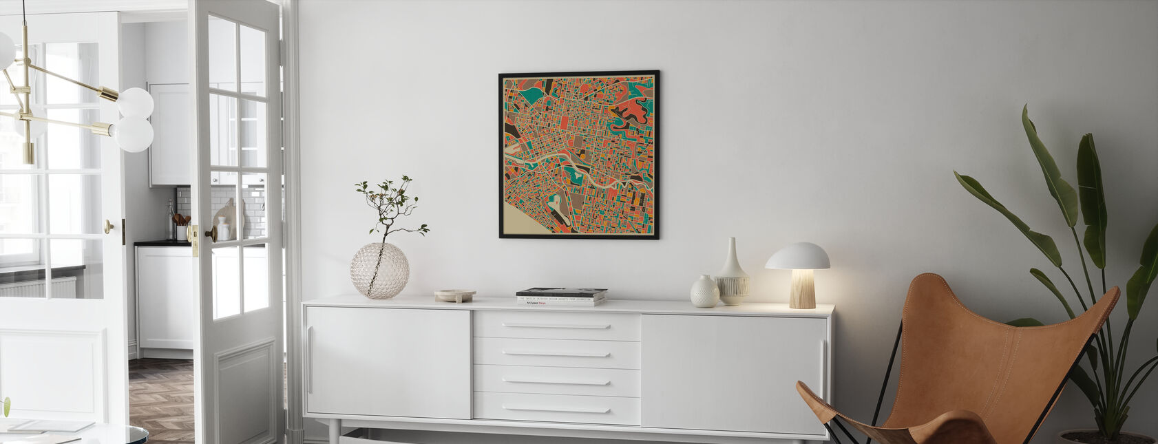 Multicolor Map - Melbourne - Poster - Living Room