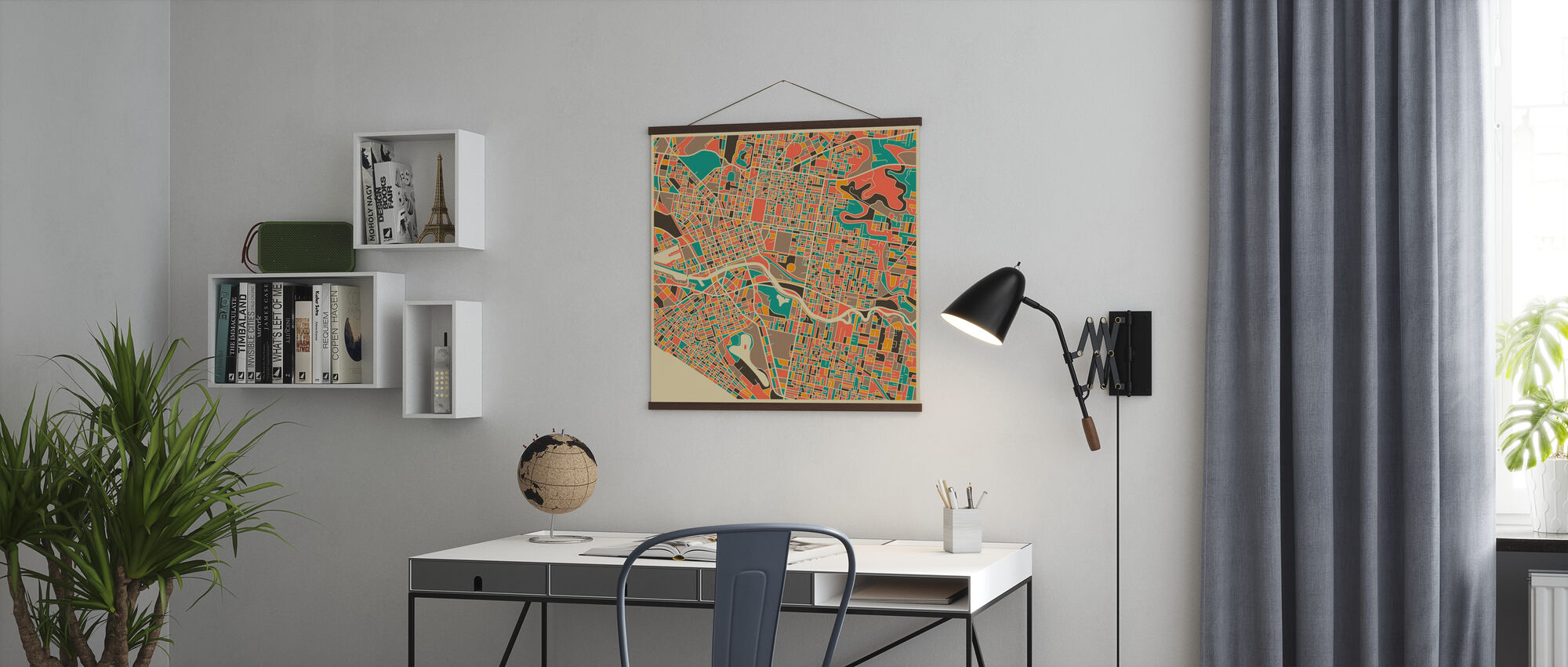 Multicolor Map - Melbourne - Poster - Office