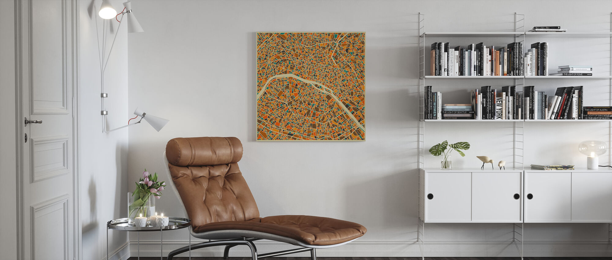 Multicolor Map - Paris - Canvas print - Living Room