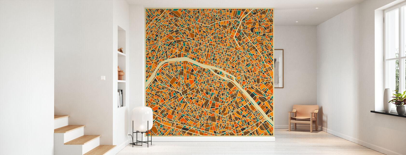 Multicolor Map - Paris - Wallpaper - Hallway