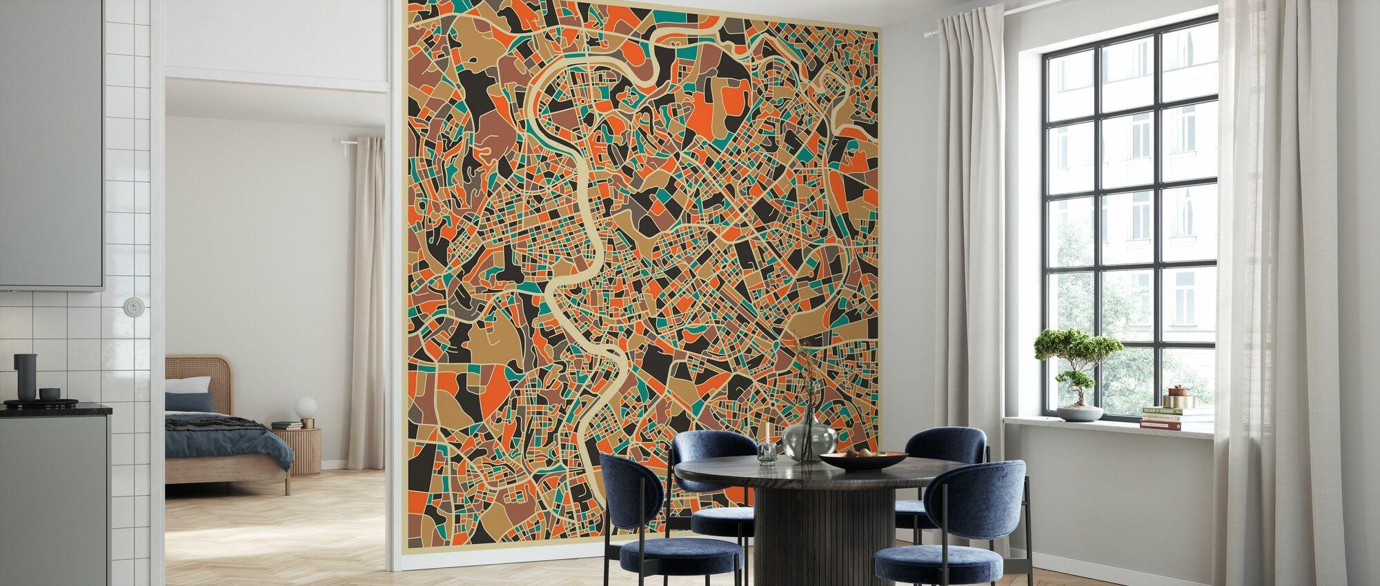 Multicolor Map - Rom - Tapet - Køkken