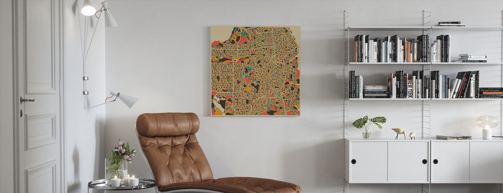 Multicolor Map - San Francisco - Canvas print - Living Room