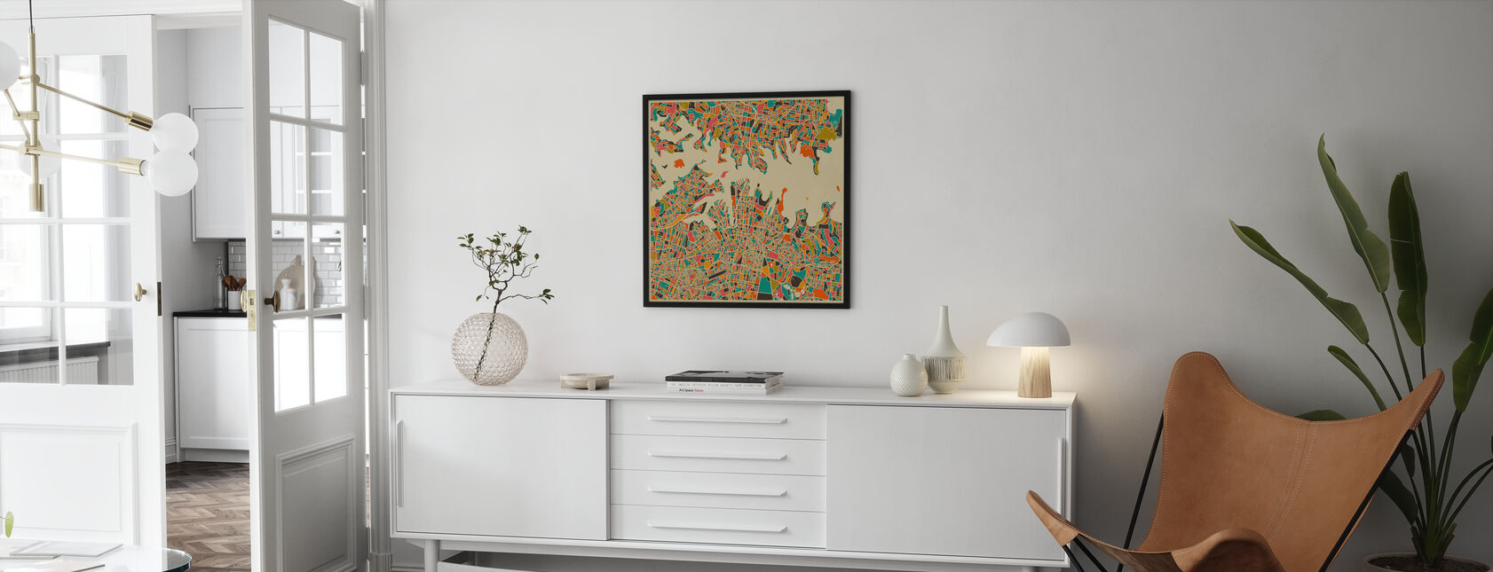 Karta över Multicolor - Sydney - Poster - Vardagsrum