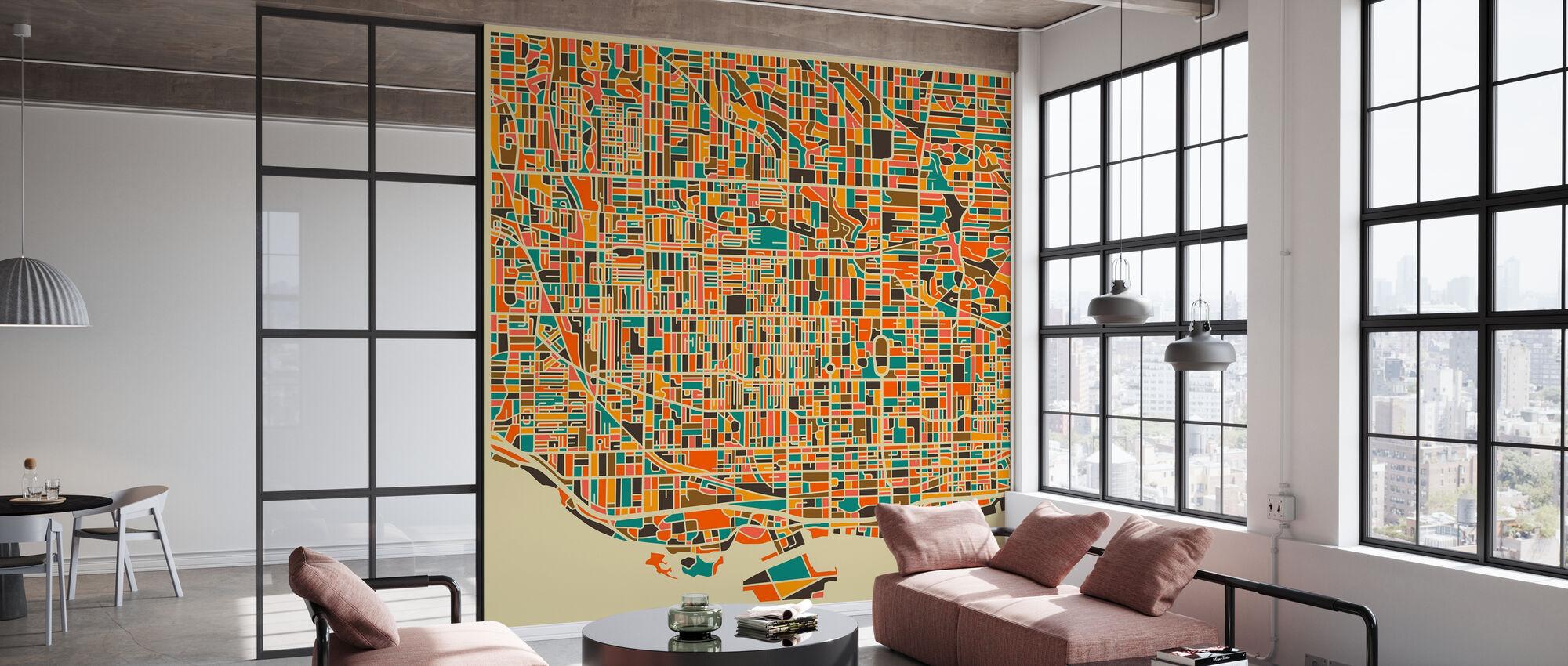 Multicolor Map - Toronto - Wallpaper - Office