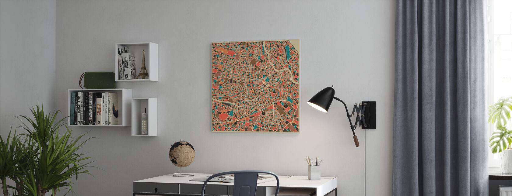 Multicolor Karta - Wien - Canvastavla - Kontor