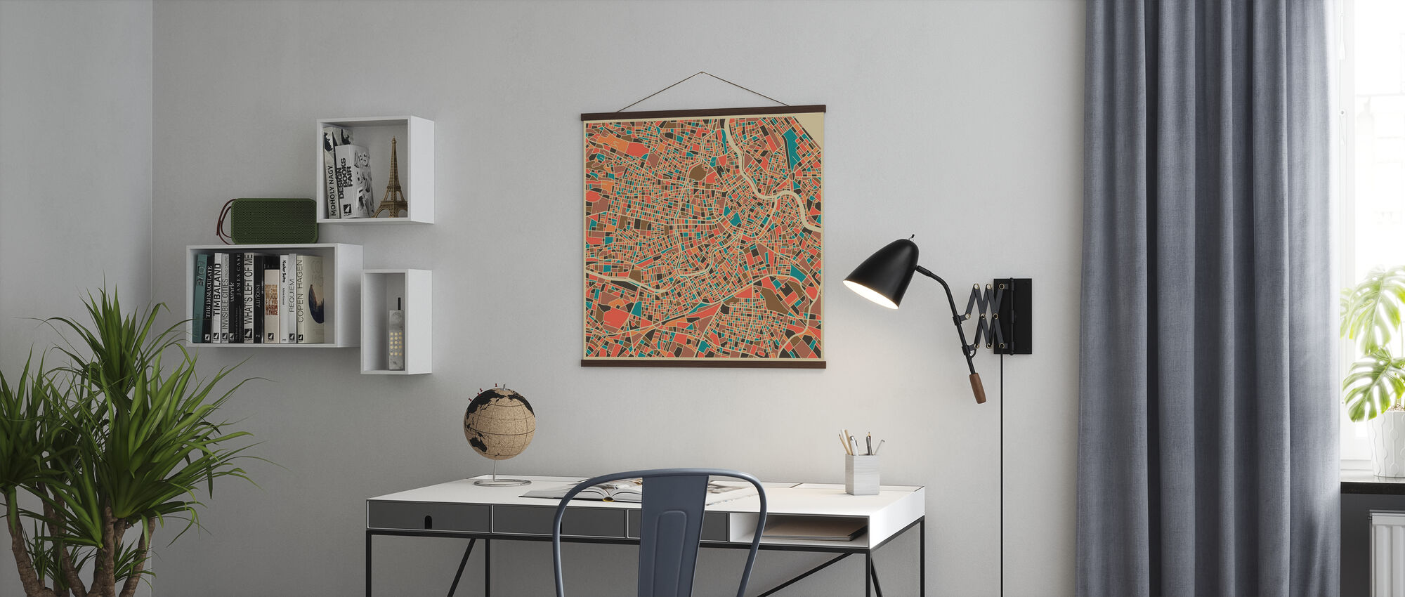 Multicolor Map - Vienna - Poster - Office