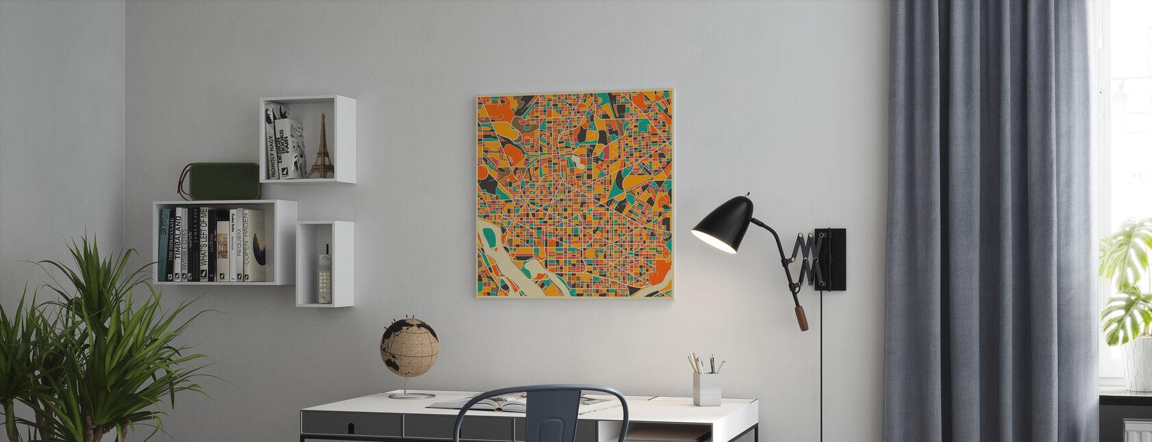 Multicolor Map - Washington - Canvas print - Office