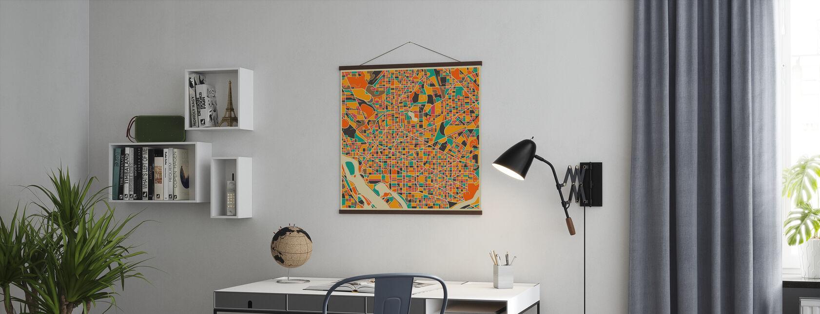 Multicolor Map - Washington - Plakat - Kontor