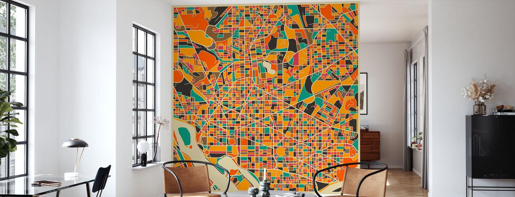 Multicolor Map - Washington - Tapetti - Olohuone