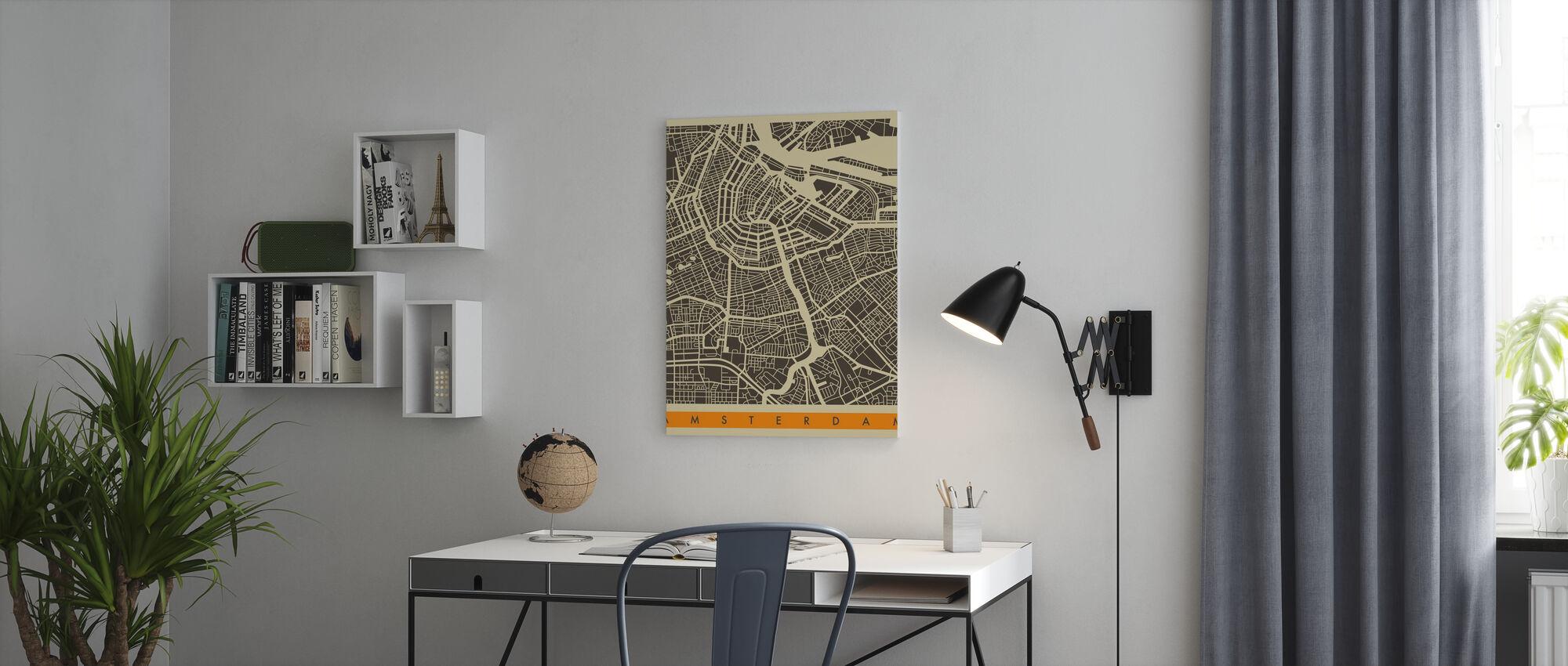 Stadsplan - Amsterdam - Canvas print - Kantoor