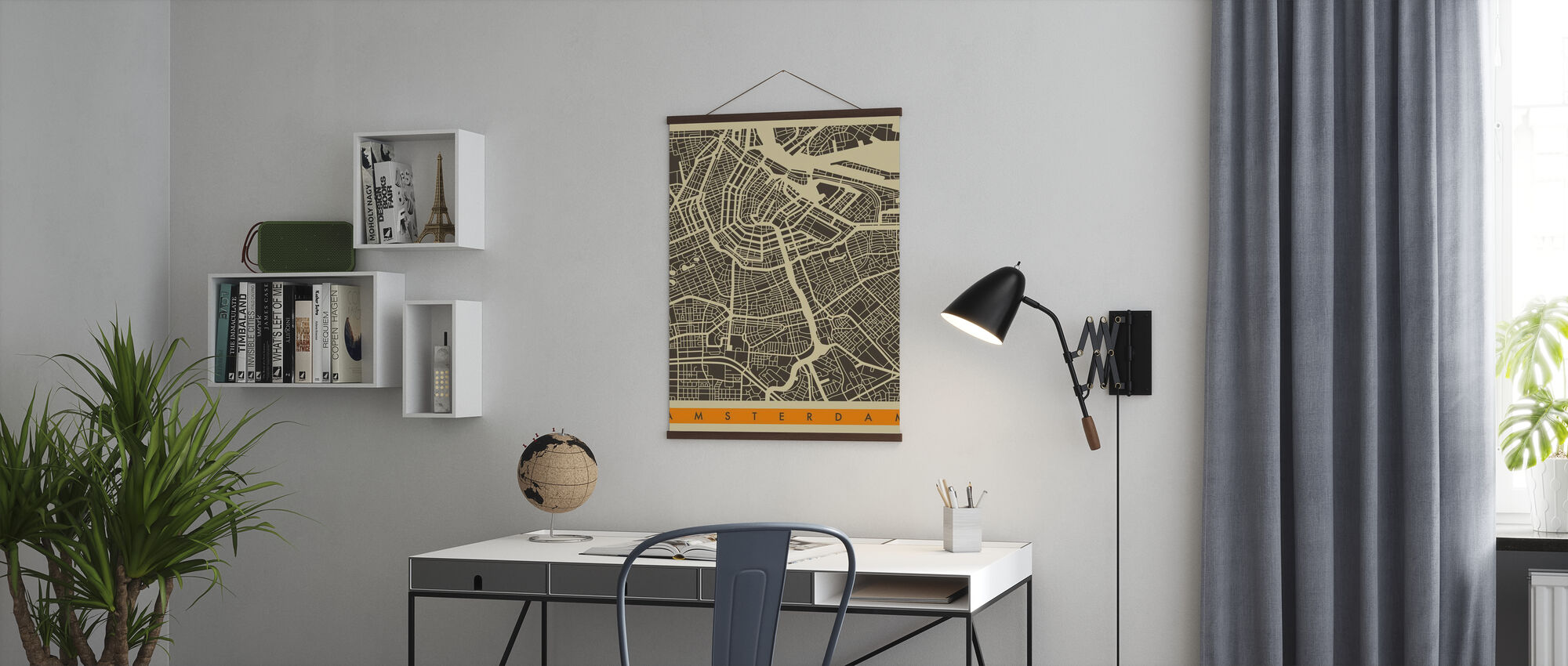 City Map - Amsterdam - Poster - Office