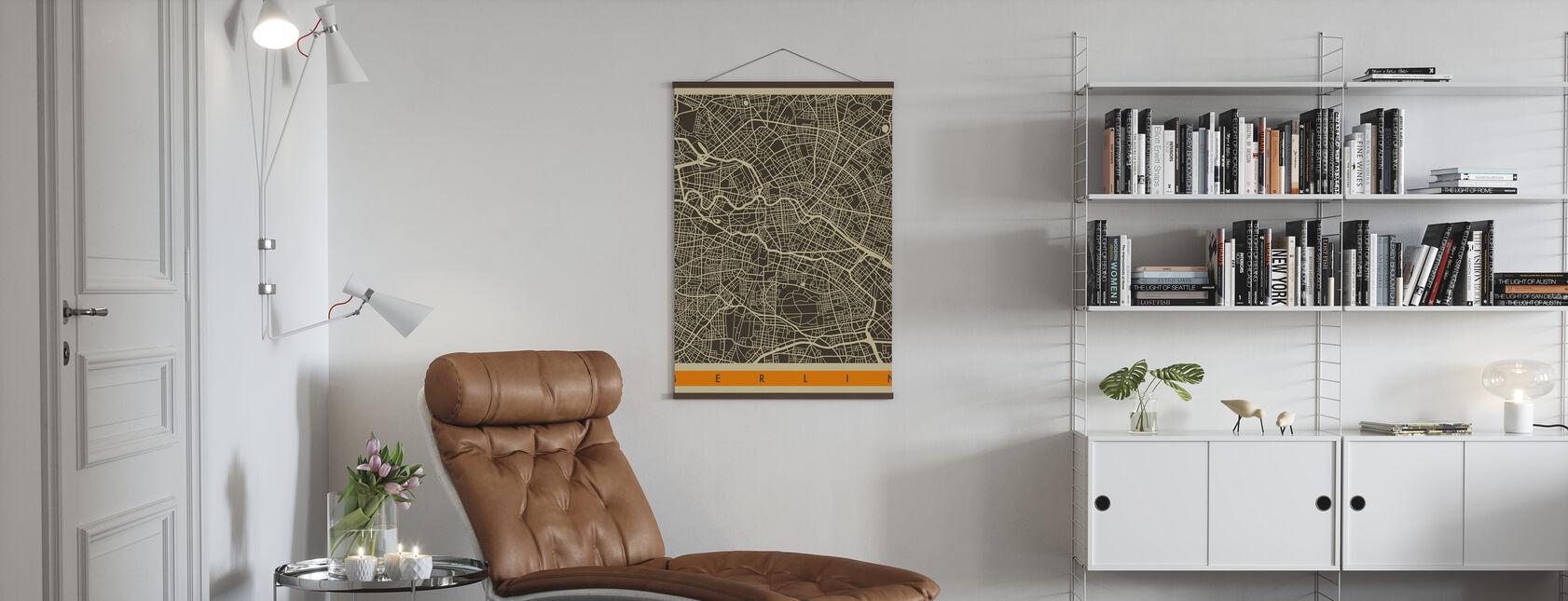 Stadsplan - Berlijn - Poster - Woonkamer