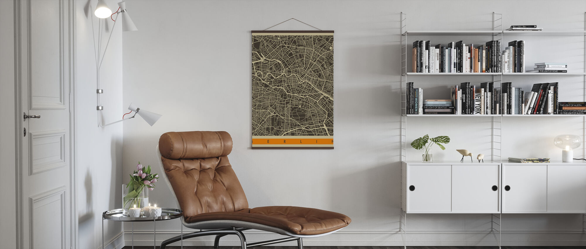 City Map - Berlin - Poster - Living Room