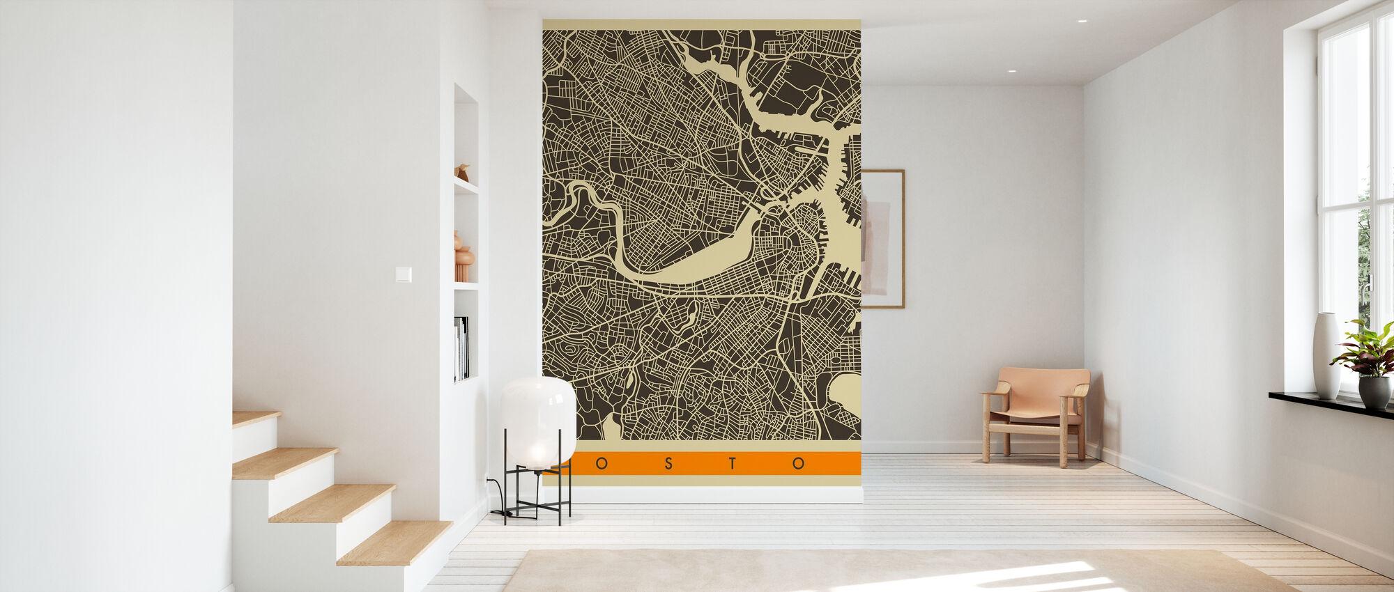 Kartta - Boston - Tapetti - Aula