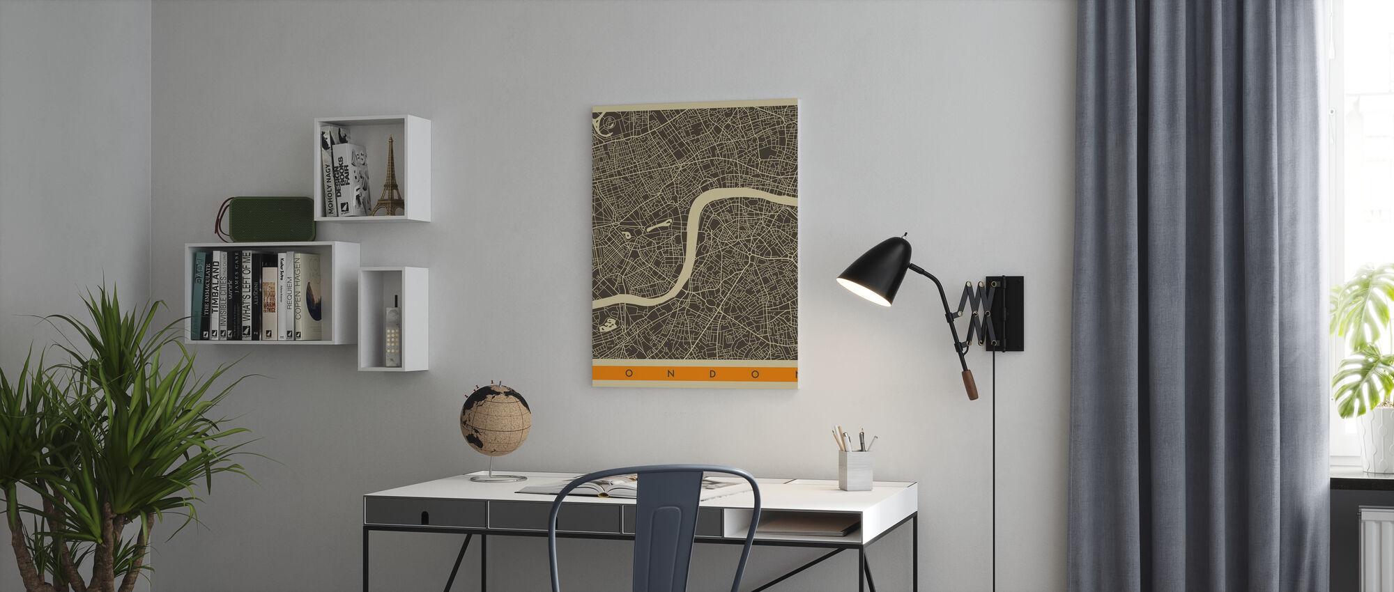 Stadsplan - Londen - Canvas print - Kantoor