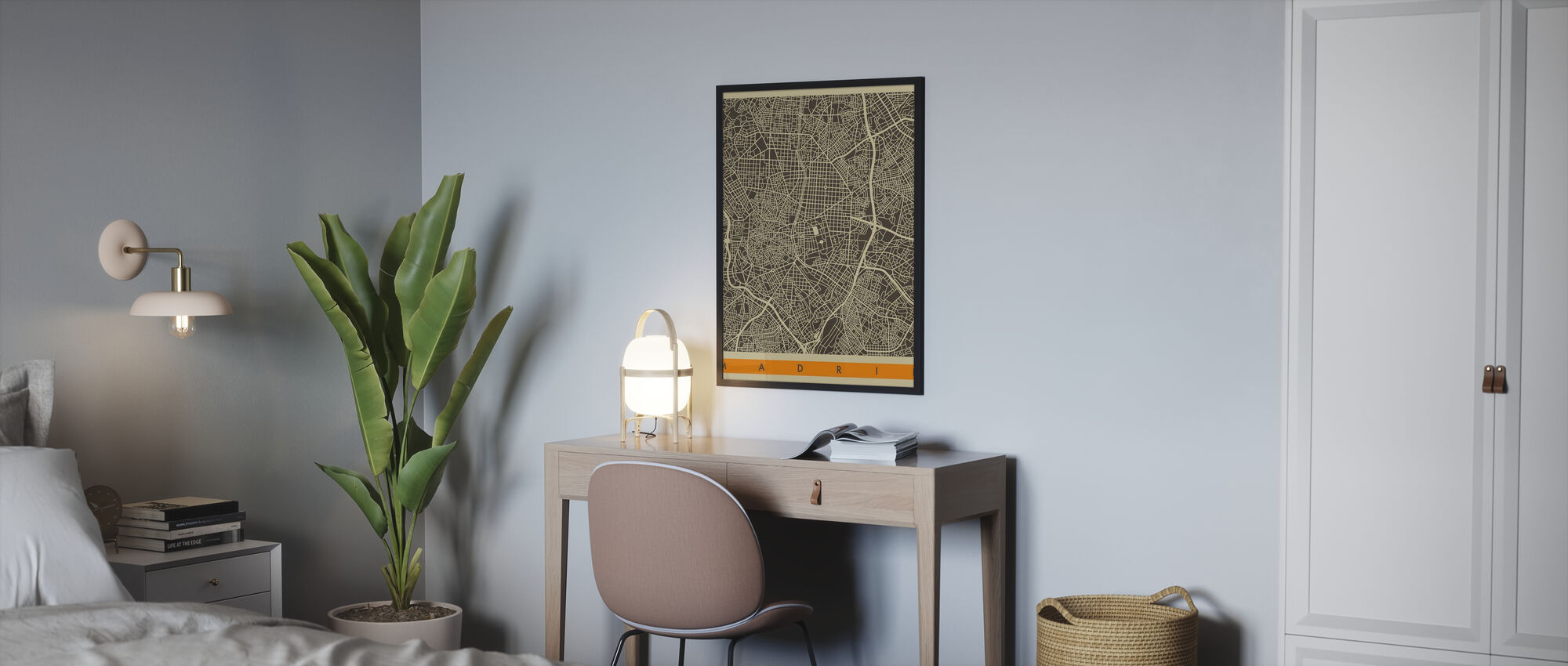 City Map - Madrid - Poster - Bedroom