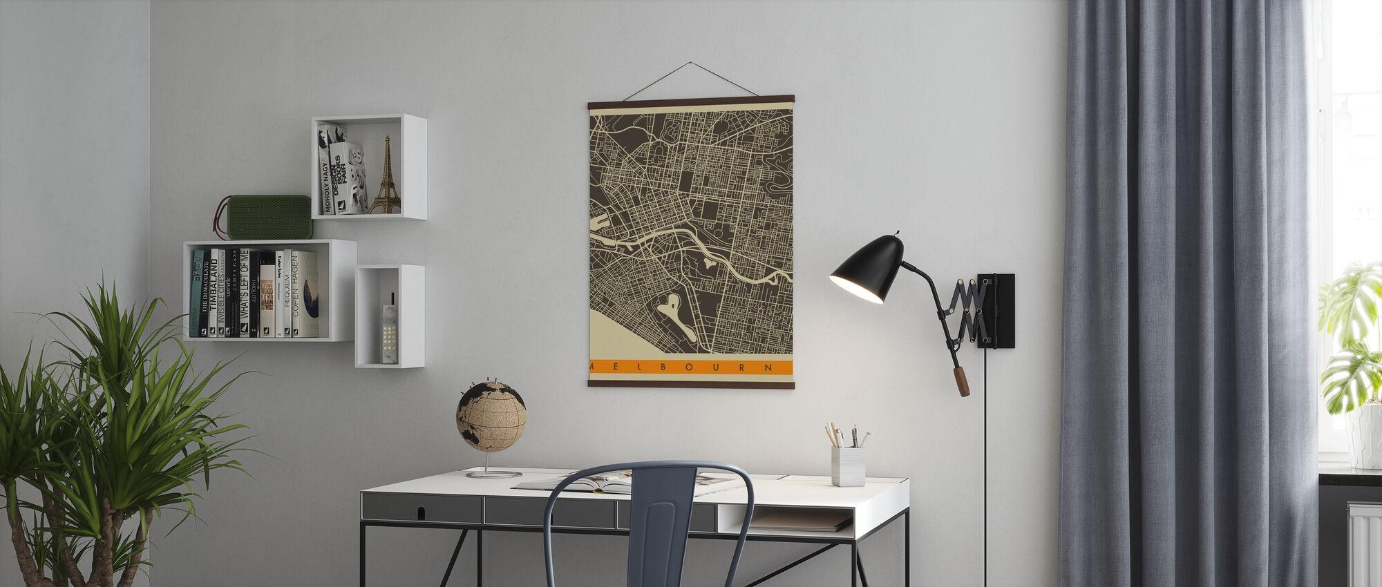 Stadsplan - Melbourne - Poster - Kantoor