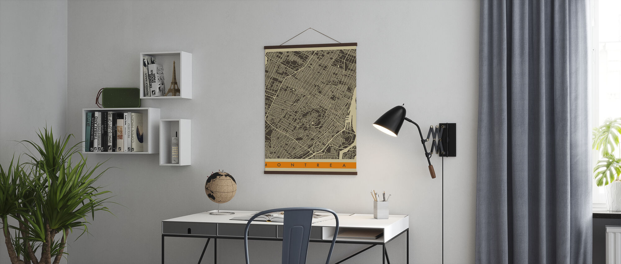 City Map - Montreal - Poster - Office