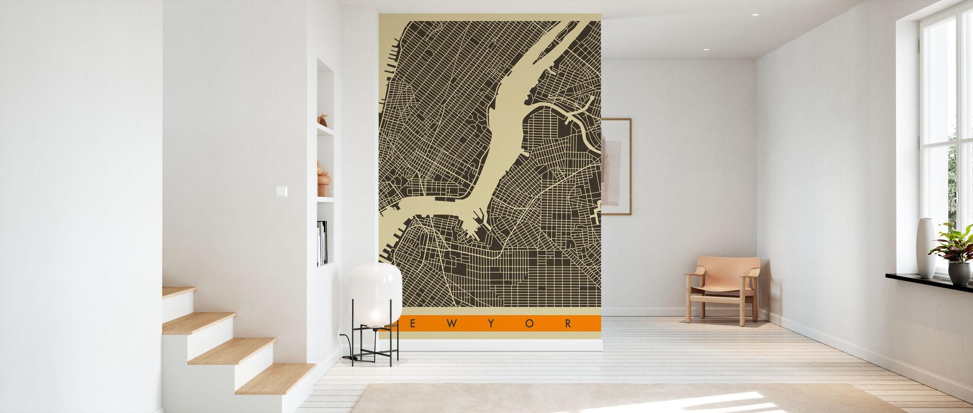 Bykort - New York - Tapet - Entré