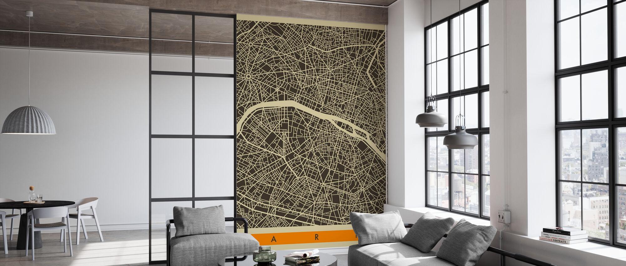 City Map - Paris - Wallpaper - Office