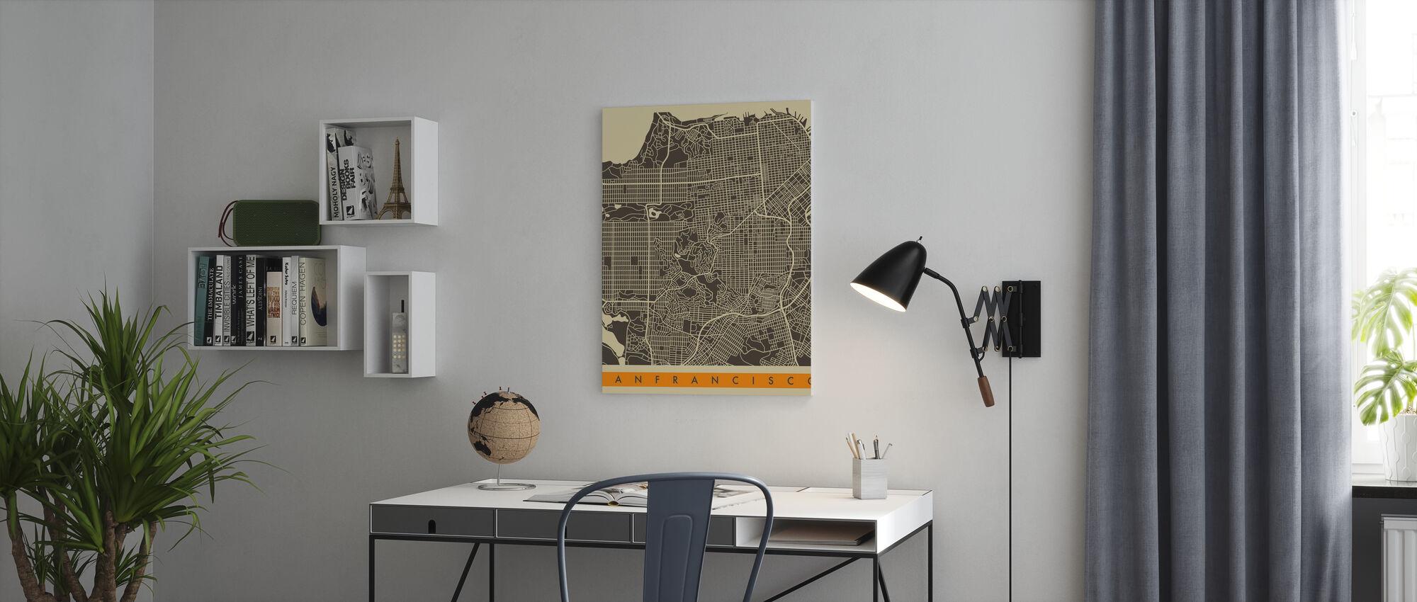 City Map - San Francisco - Canvas print - Office