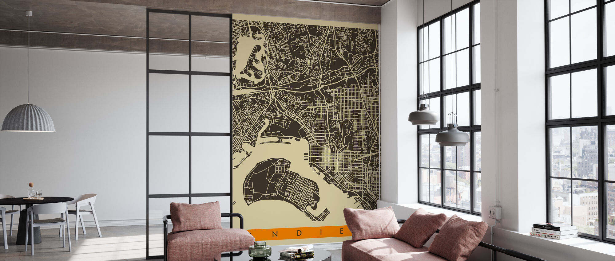 City Map - San Diego - Wallpaper - Office