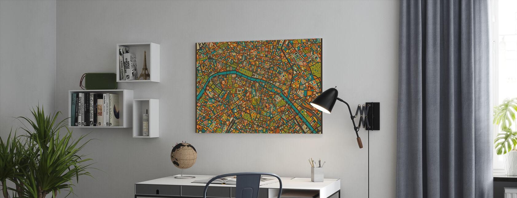 Mappa Paris Street - Stampa su tela - Uffici