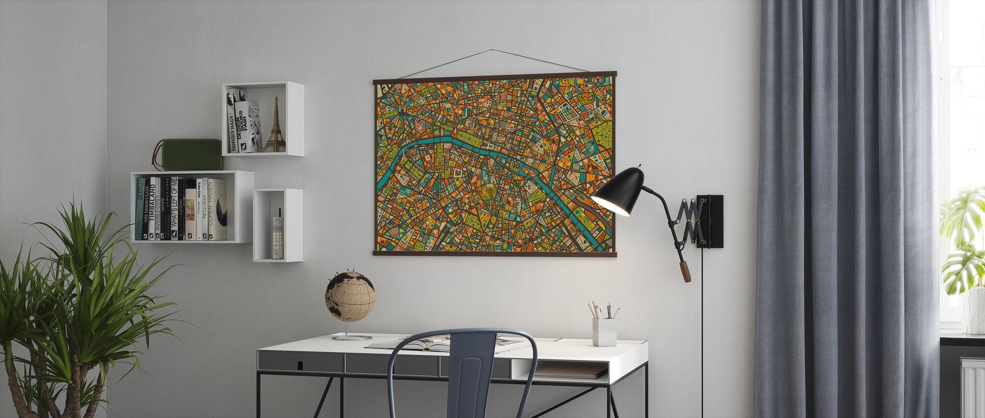 Paris Street Karte - Poster - Büro