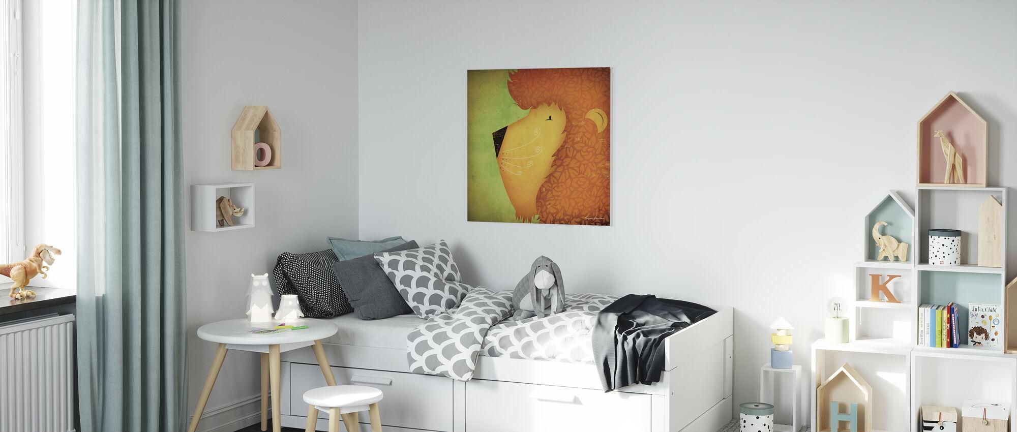 Ryan Fowler - Lion - Canvas print - Kids Room