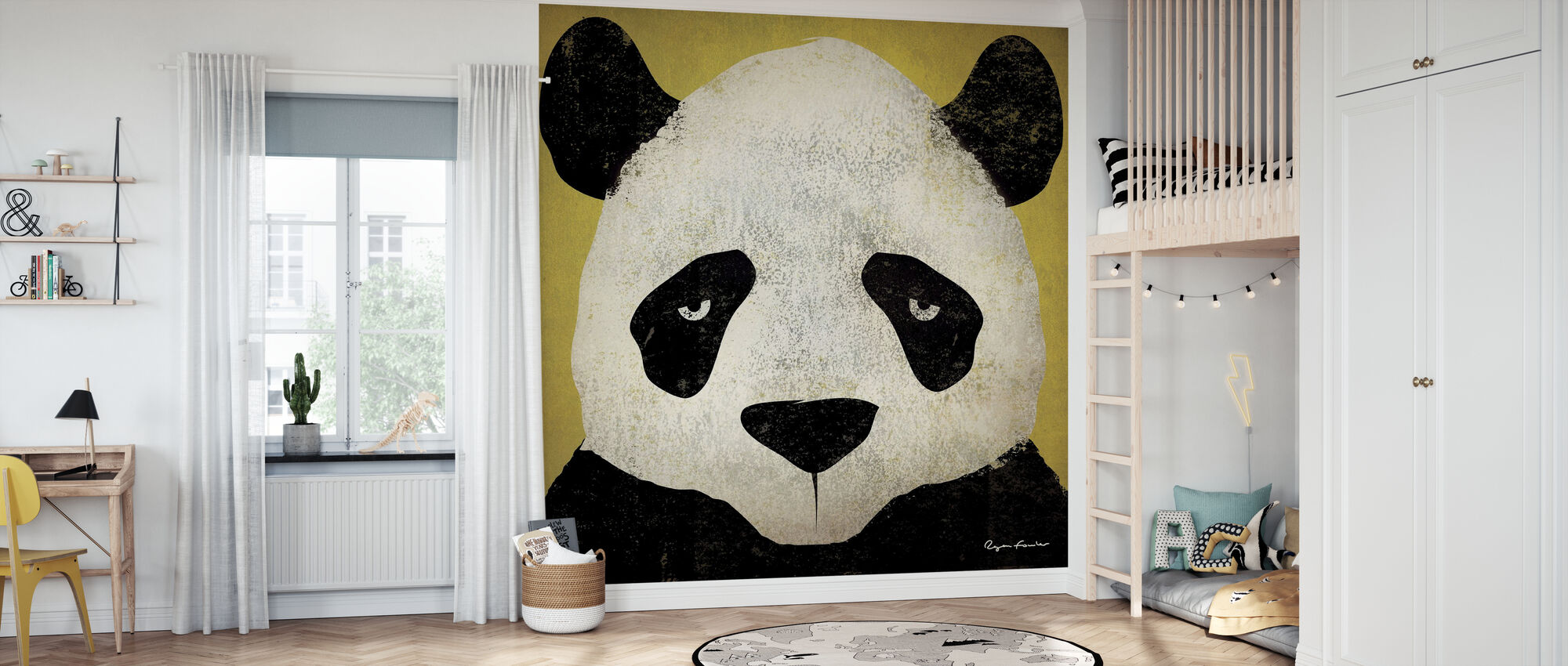 Ryan Fowler - Panda - Wallpaper - Kids Room