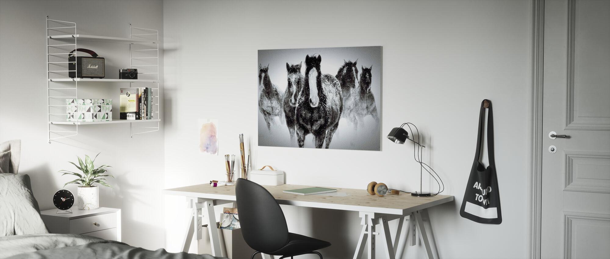 Winter Rumble - Canvas print - Kinderkamer