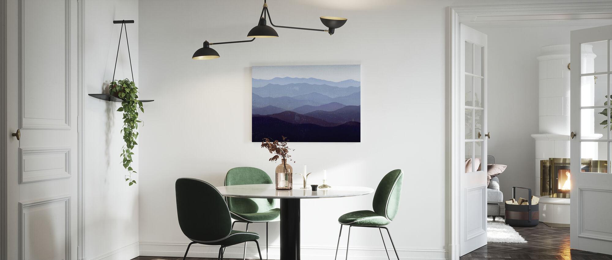 Ryan Fowler - Purple Mountains - Canvas print - Kitchen