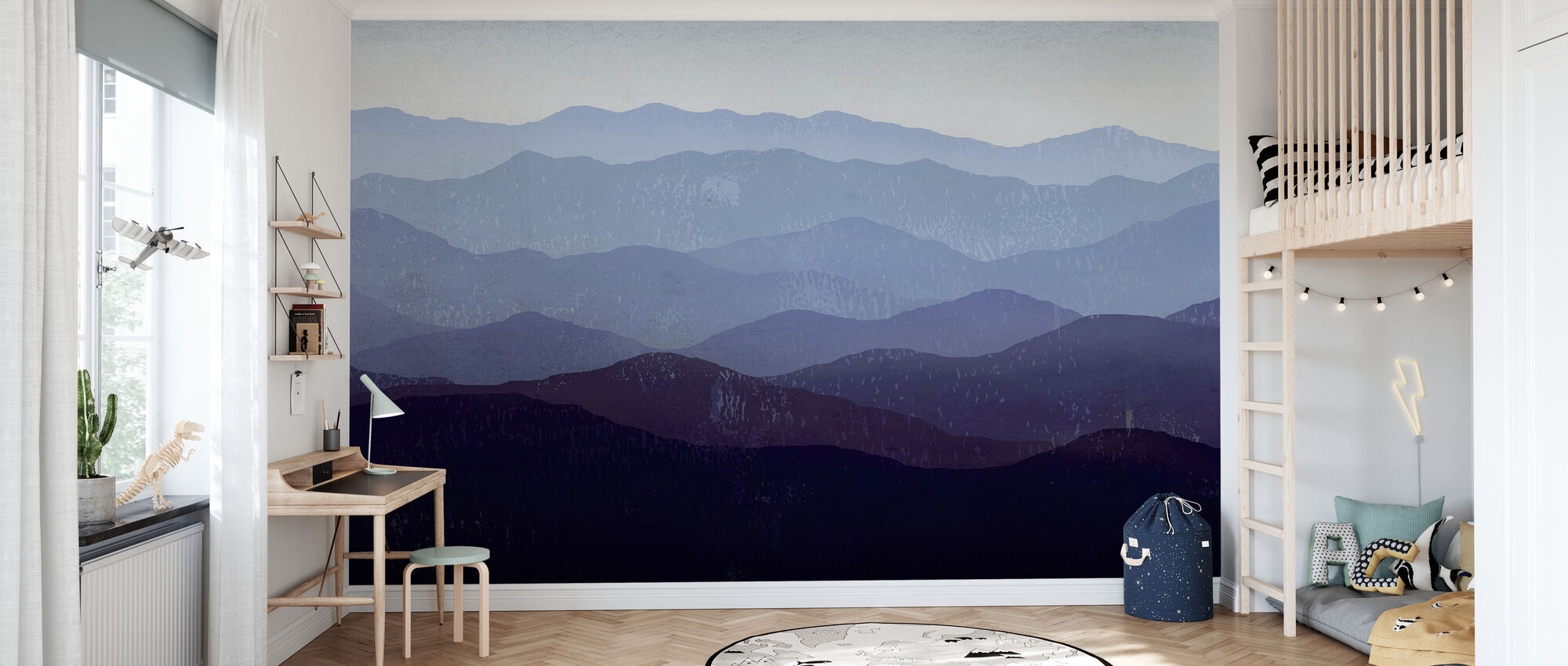 Ryan Fowler - Purple Mountains - Wallpaper - Kids Room