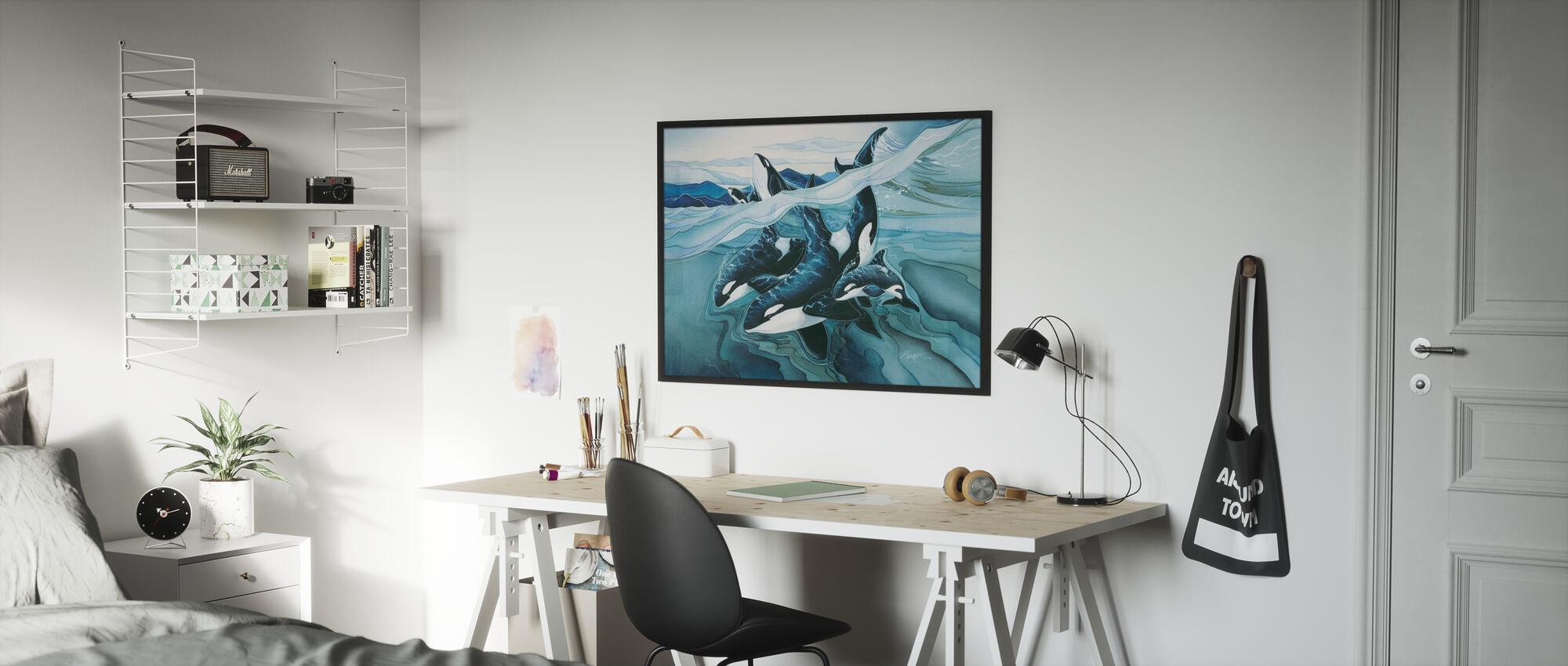 Blue Orca Familien - Poster - Kinderzimmer