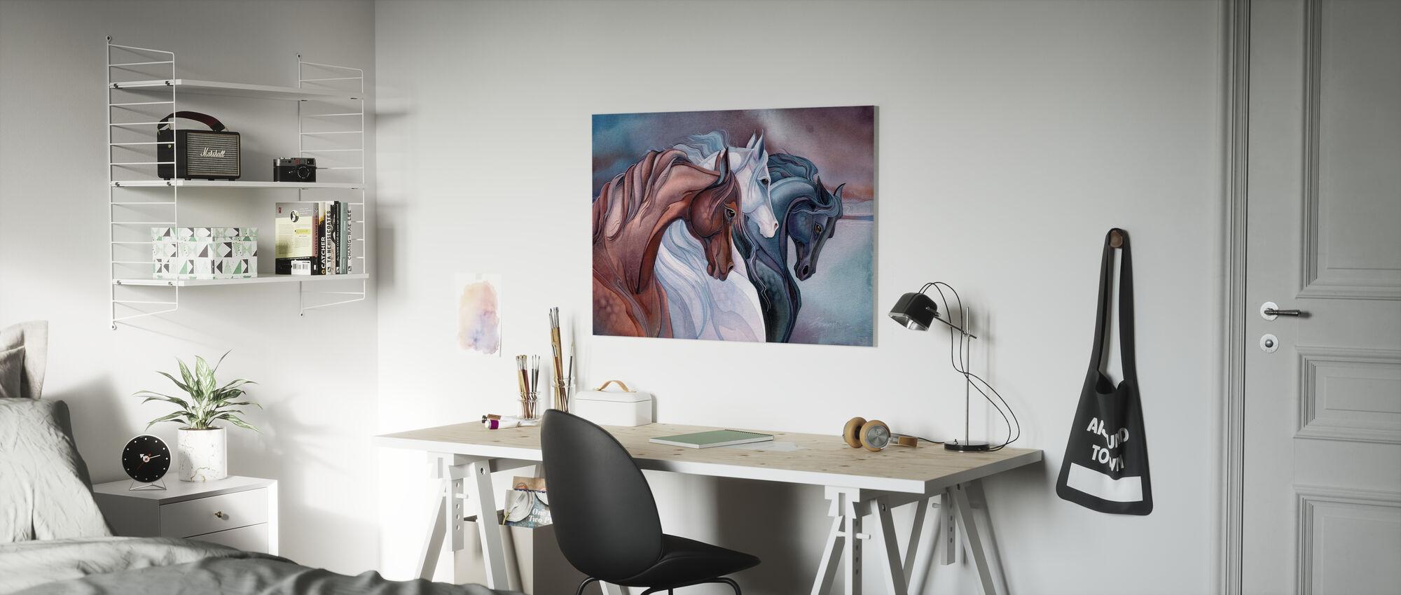 Elegant Horses - Canvas print - Kids Room