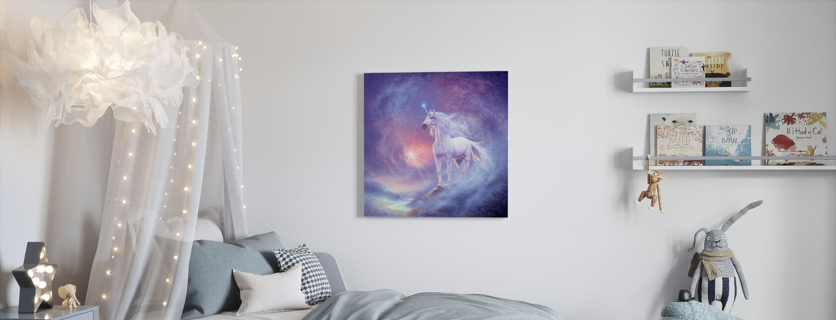 Astral Yksisarvinen - Canvastaulu - Lastenhuone