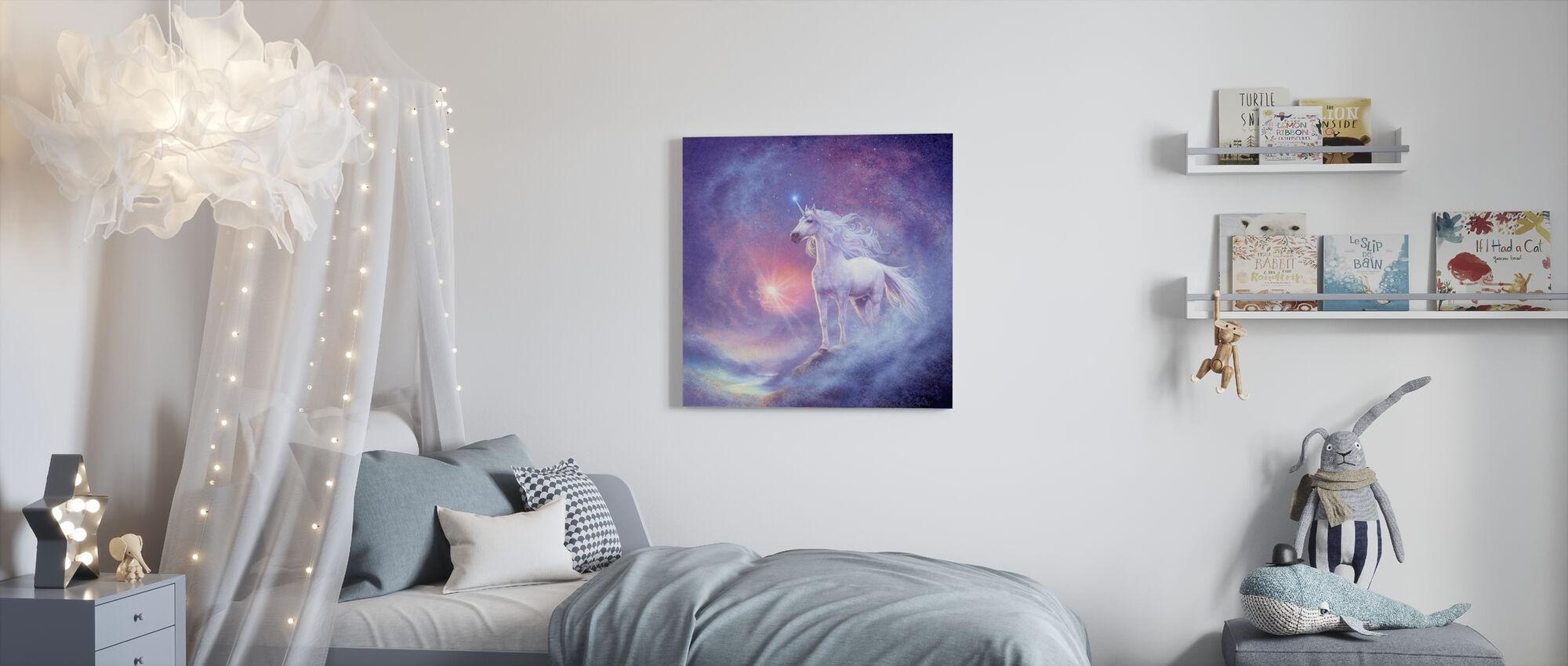 Astrale Eenhoorn - Canvas print - Kinderkamer