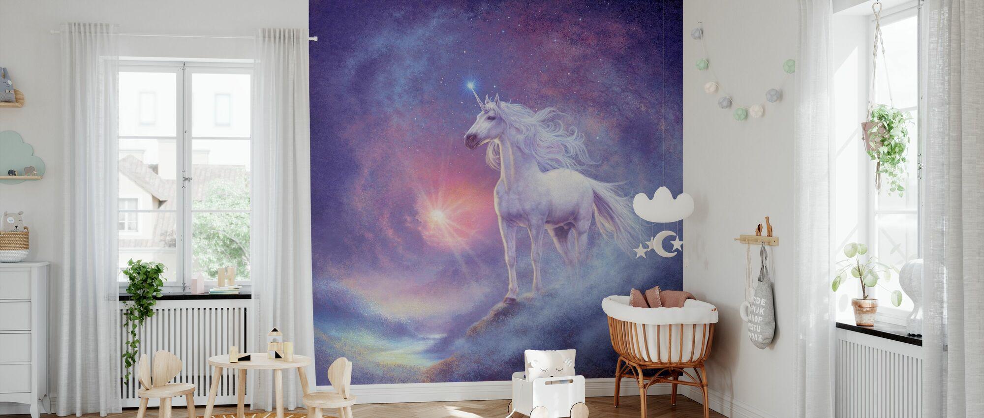 Astrale Eenhoorn - Behang - Babykamer