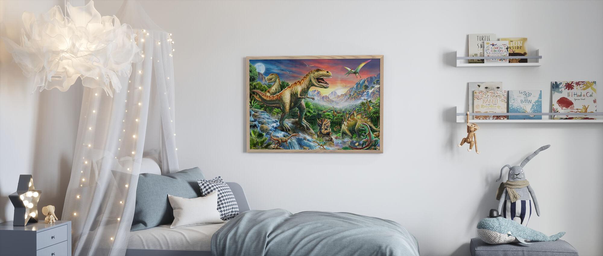 Jurassic Maisema - Kehystetty kuva - Lastenhuone