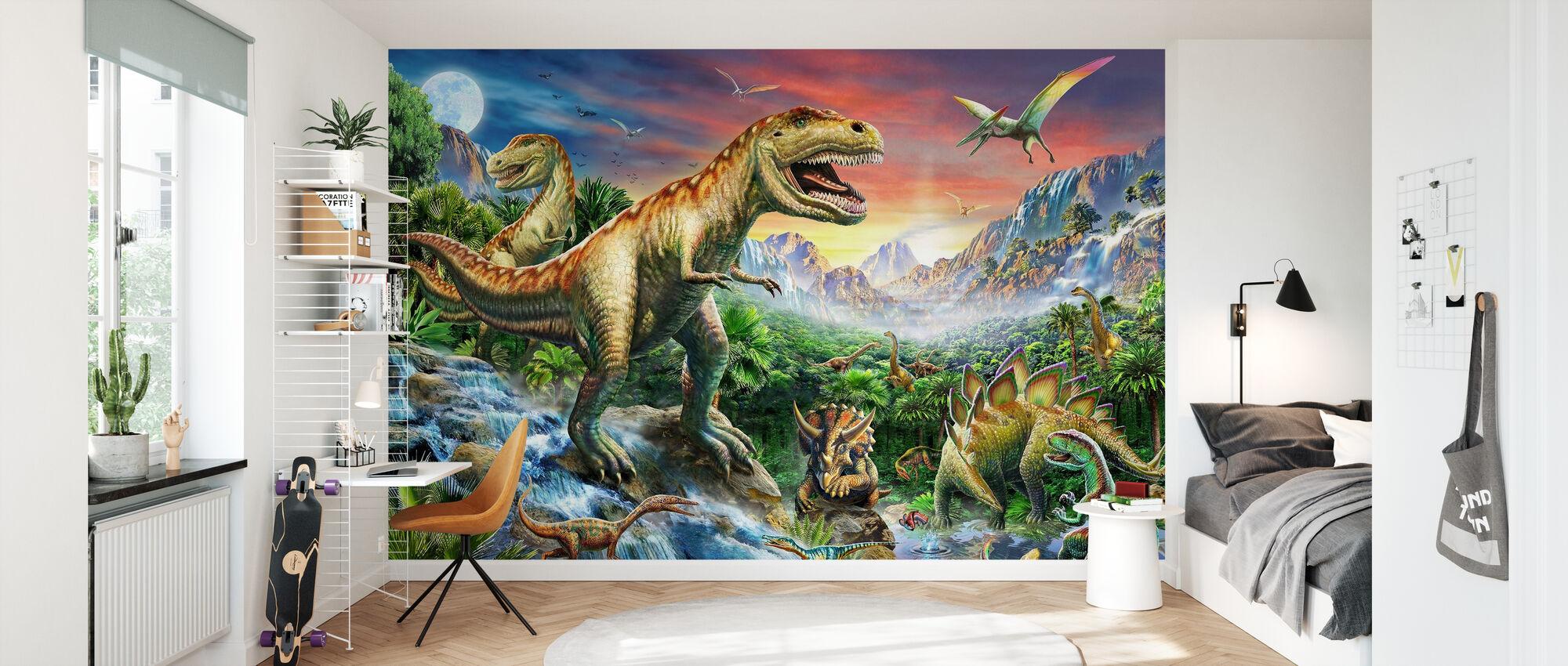 Jurassic Landscape - Wallpaper - Kids Room