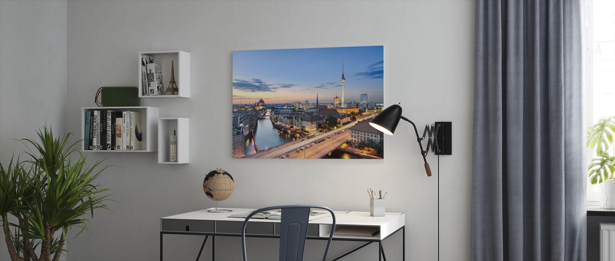 Berlin Skyline Panorama - Canvas print - Office