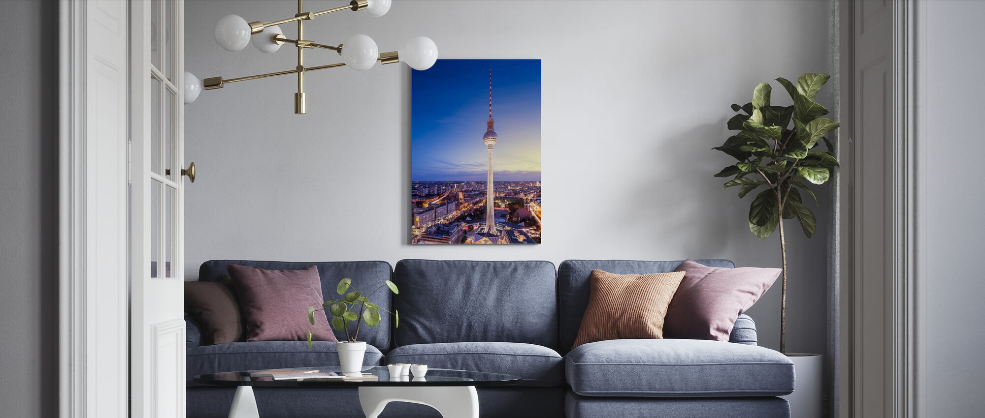 Berlin, Germany. View of TV tower - Canvas print - Living Room