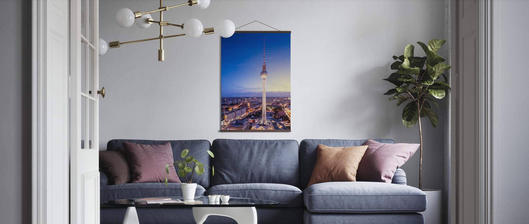 Berlin, Tyskland. Utsikt over TV-tårnet - Plakat - Stue
