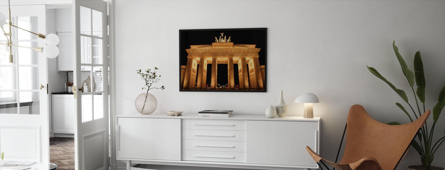 Brandenburger Tor på natten - Plakat - Stue