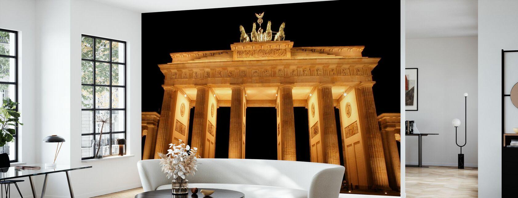 Brandenburger Tor bei Nacht - Tapete - Wohnzimmer
