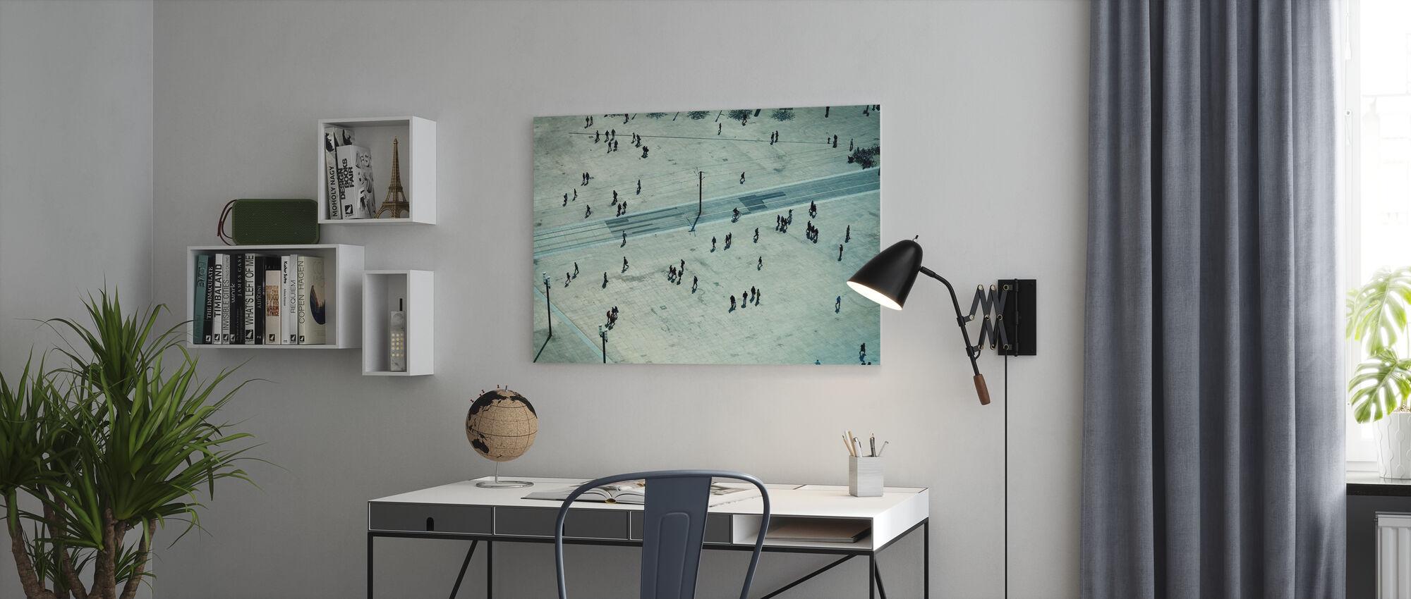 People in Alexanderplatz, Berlin - Canvas print - Office