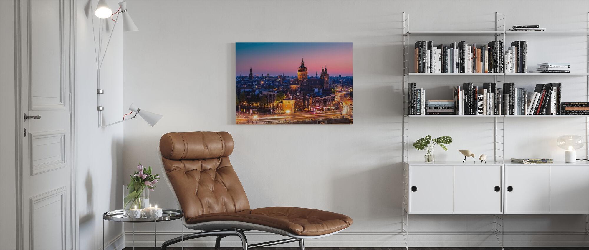 Amsterdam Stadtzentrum - Leinwandbild - Wohnzimmer