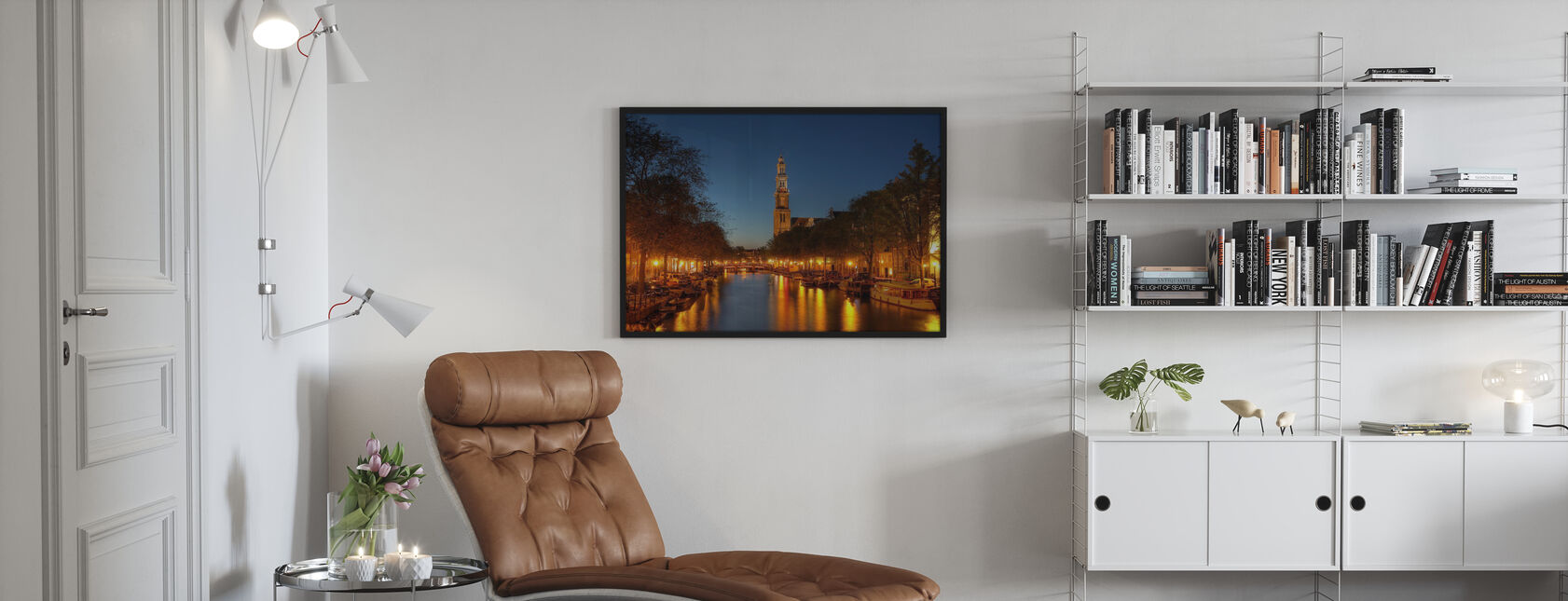 Canale Prinsengracht ad Amsterdam - Poster - Salotto
