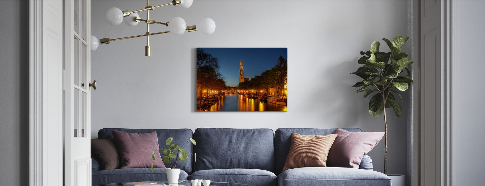 Prinsengracht Canal in Amsterdam - Canvas print - Living Room