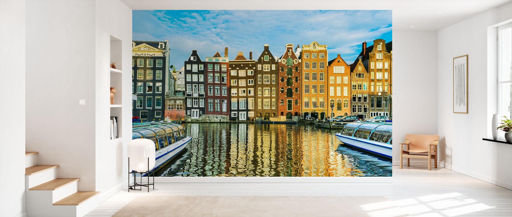 Traditionelle Häuser von Amsterdam, Niederlande - Tapete - Flur
